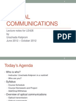 2012Lecture1 Optical Communications