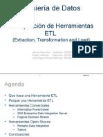 ETL tools scanning