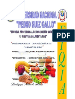 Determinacion Cuantitativa de Carbohidratos