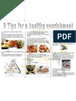 Triptico de Alimentacion Saludable