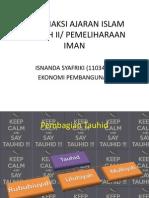 Agama - Klasifiaksi Ajaran Islam Aqidah II
