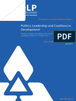Politics, Leadership and Coalitions in Development - Findings, Insights and Guidance