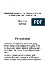 Pembangunan Politik Dalam Konteks Hubungan Etnik Di Malaysia