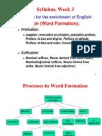 2. Prefixation and Suffixation x