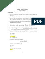 Advanced Calculus Test Questions