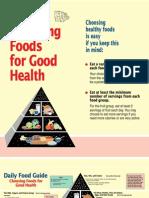 Choosing Good Foods Health