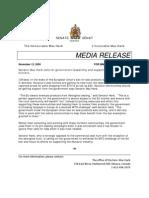 Senator Release Nunavut Seal Hunt
