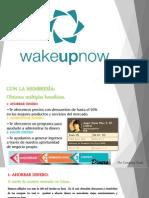 Presentación Oficial de WakeUpNow en Diapositivas [PPT]