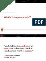 What is Entrepreneurship (Slides)