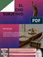 El Derecho Subjetivo