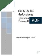 Deducciones Personales LISR 2014