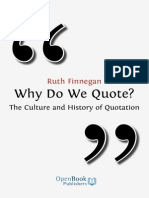 Finnegan Ruth - Why We Quote