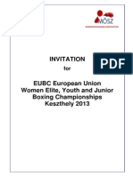 Invitation Letter for Eubc European Union Women Youth and Junior Boxing Championships Keszthely 2013981349823749518734918745185701738570274028750174