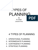 Types of Planning