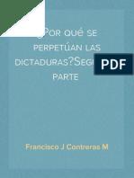 ¿Por qué se perpetúan las dictaduras? Segunda  parte