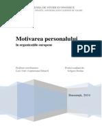 Proiect Management Comparat - Motivarea Personalului in Organizatiile Europene