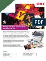 Oki Printing White & Clear Toner