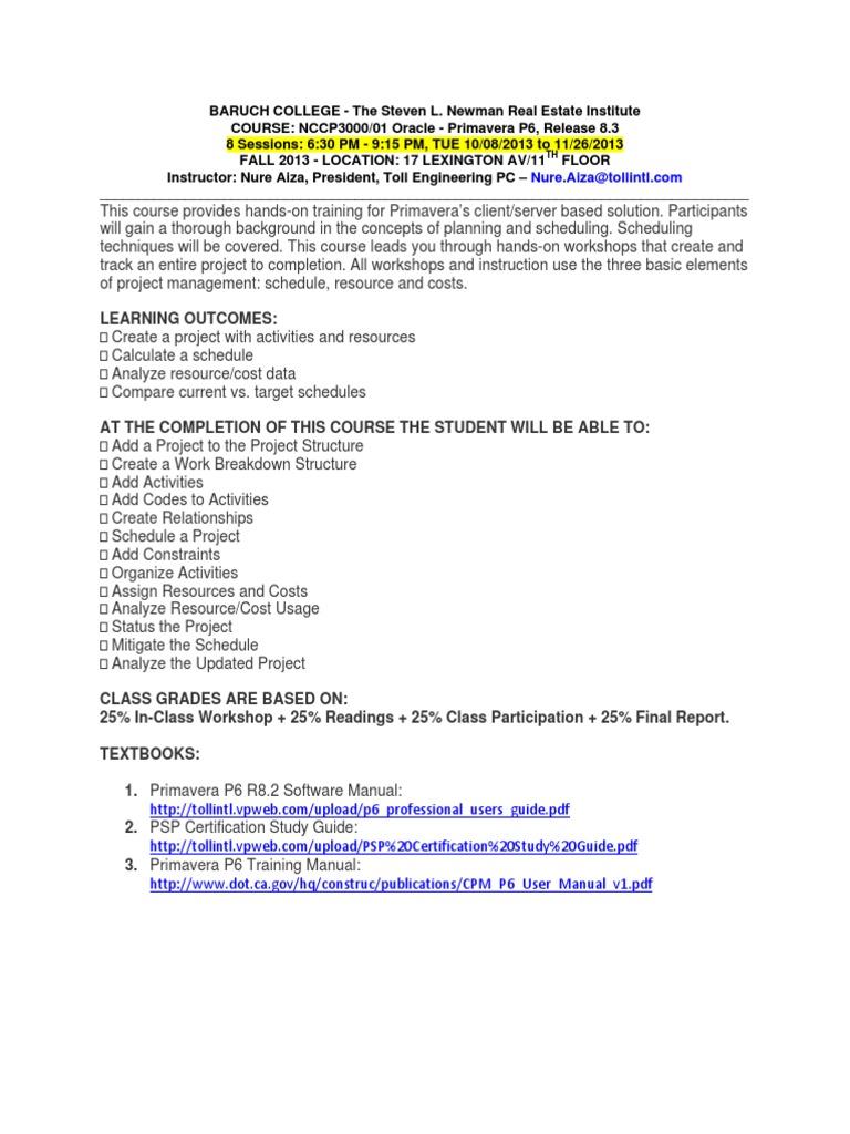 20guide manual array primavera p6 v8 3 class syllabus technology computing rh scribd fandeluxe Choice Image