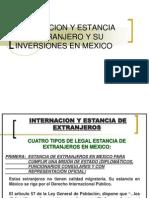 Internacion y Estancia Del Extranjero y Su Inversiones
