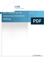 Outsourcing Destinations - Tholons 2014