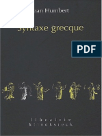 Humbert Syntaxe Greque