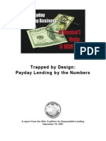 2007 trapped by design payday lending by the numbers
