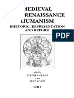 Medieval and Renaissance Humanism Rhetoric Representation and Reform Brill 039 s Studies in Intellectual History