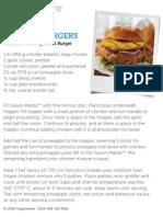 Hawaiian Chicken Burger - Tupperware