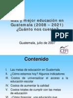 IV.COSTOS DE MAS Y MEJOR EDUCACION