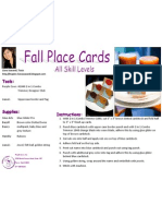 Fall Place Cards by Liana Suwandi