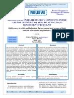 Unidad 3 CALERO y Otros 2010 Diferencias en Habilidades y Conductas en Preescolares