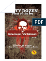 DIRTY DOZEN - Genocidaires and War Criminals on Tamils in Sri Lanka