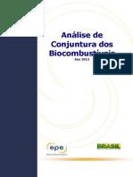 Análise de Conjuntura Dos Biocombustíveis – Ano 2012