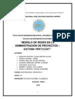 Trabajo de IO II - Modelo de Redes Pertcos