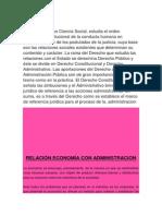 Relación Economía y El Derecho Con Administracion