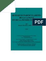 Granet - PARTICULARITÉS
