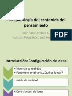 Psicopatología Del Contenido Del Pensamiento
