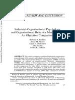 Industrial-Organizational Psychology & Organizational Behavior Management