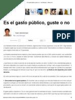 Es el gasto público, guste o no ~ José Benegas ~ Infobae.pdf