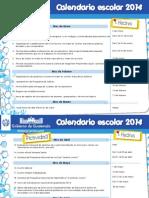 Calendar i o Escola r 2014
