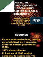 Aspectos Epidedmiologicos de La Rubeola y Del Sindrome