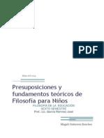 Presuposiciones y Fundamentos Teóricos de Filosofía Para Niños