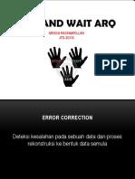 Komunikasi Data - Stop and wait ARQ