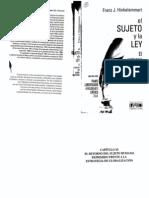 SI Hinkelammert - El Sujeto y La Ley, Capitulo 11
