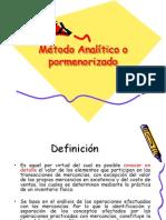 Metodo Analitico o Pormenorizado