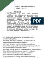 Ley Marco Del Empleo Público