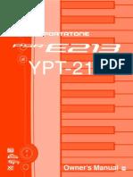 10975 Yamaha YPT 210 Manual