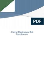 Channel Effectivness Questionnaire