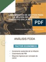 Lineamientos de Gestión Para La Mejora Del Servicio Educativo en La Región Tacna