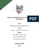 Tema y Preguntas de Investigacion